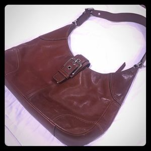 Coach All Leather Brown Purse